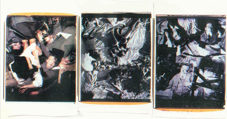 Trittico delle doppie esposizioni,1988-89. Trittico di polaroid, 61x51 cm ciascuna