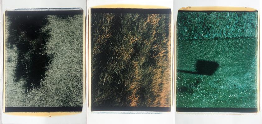 Trittico delle ombre #1,1988-89. Trittico di polaroid, 61x51 cm ciascuna