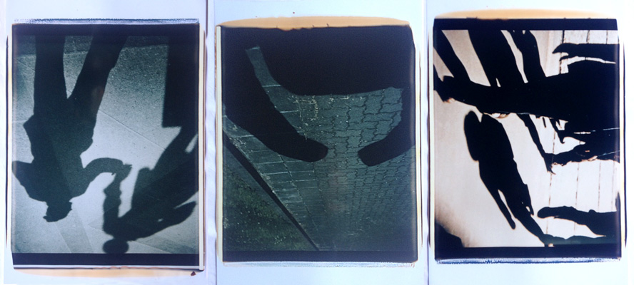 Trittico delle ombre #2,1988-89. Trittico di polaroid, 61x51 cm ciascuna